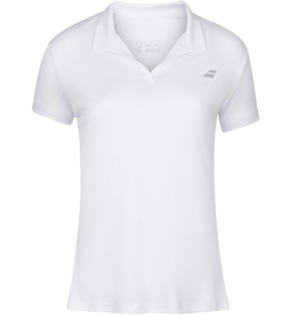 Babolat Women's Play Polo - White-All Things Tennis-UK tennis shop