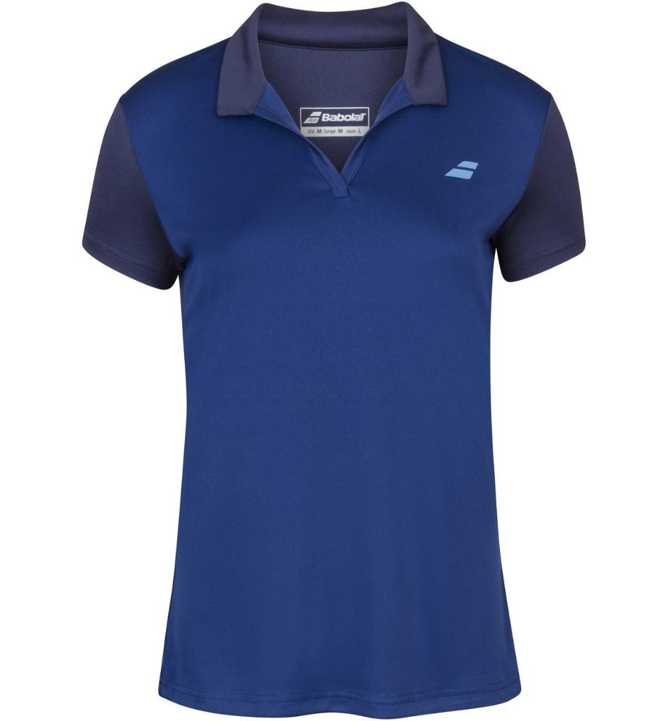 Babolat Women's Play Polo - Estate Blue-All Things Tennis-UK tennis shop