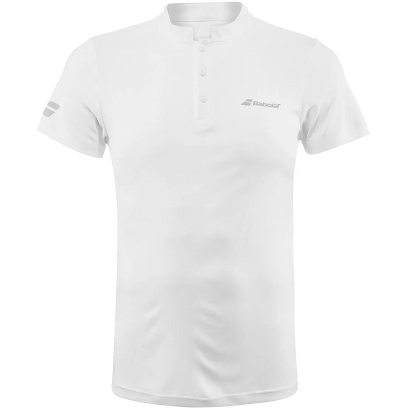 Babolat Mens Play Polo - White-All Things Tennis-UK tennis shop