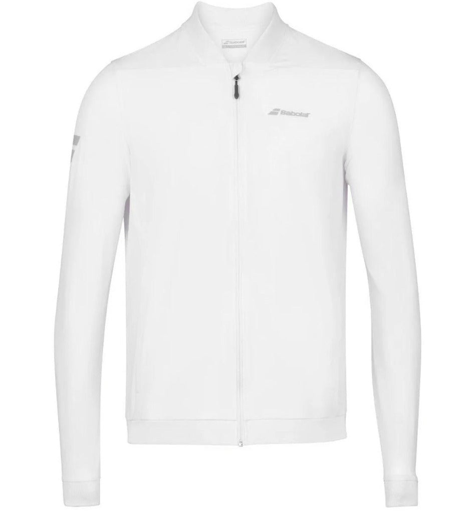 Babolat Mens Play Jacket - White - All Things Tennis