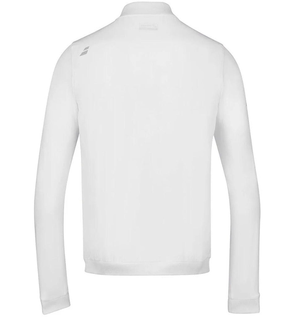 Babolat Mens Play Jacket - White - Independent tennis shop All Tbings Tennis