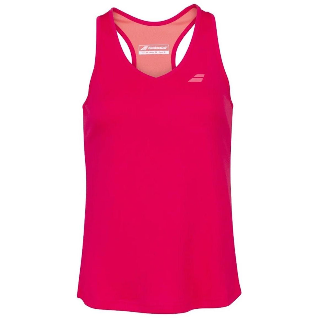 Babolat Womens Play Tank Top - Red Rose-All Things Tennis-UK tennis shop