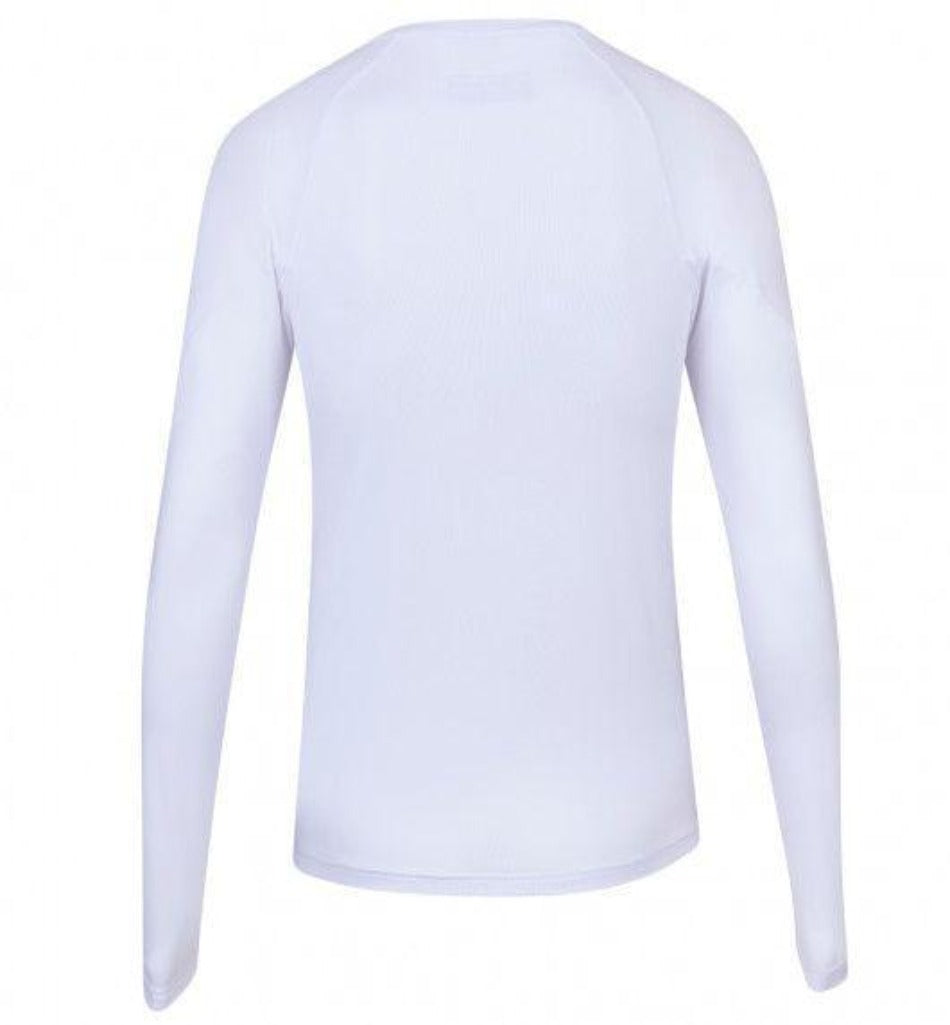 Babolat Womens Play Long Sleeve Top - White - All Things Tennis
