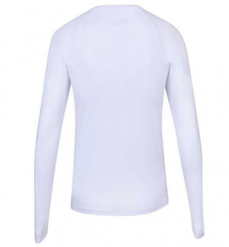 Babolat Womens Play Long Sleeve Top - White-All Things Tennis-UK tennis shop