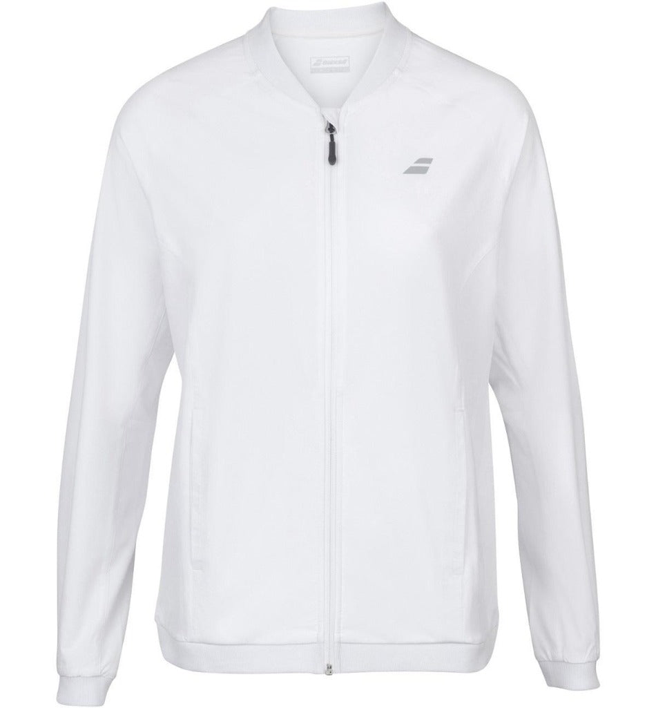 Babolat Womens Play Jacket - White-All Things Tennis-UK tennis shop