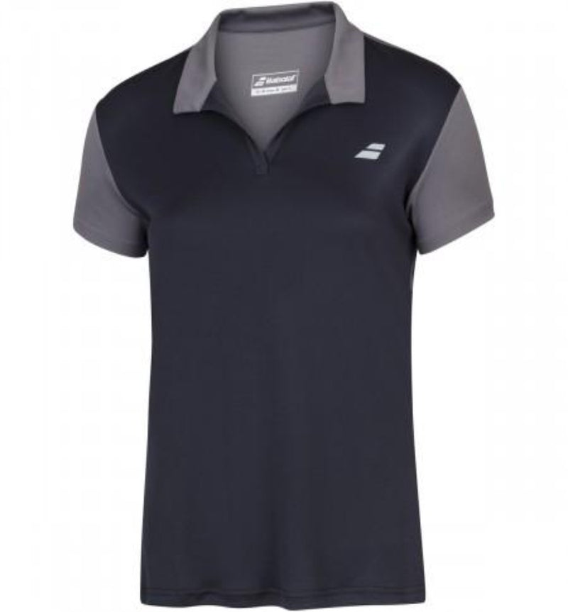 Babolat Play Women's Polo - Black/Grey-All Things Tennis-UK tennis shop