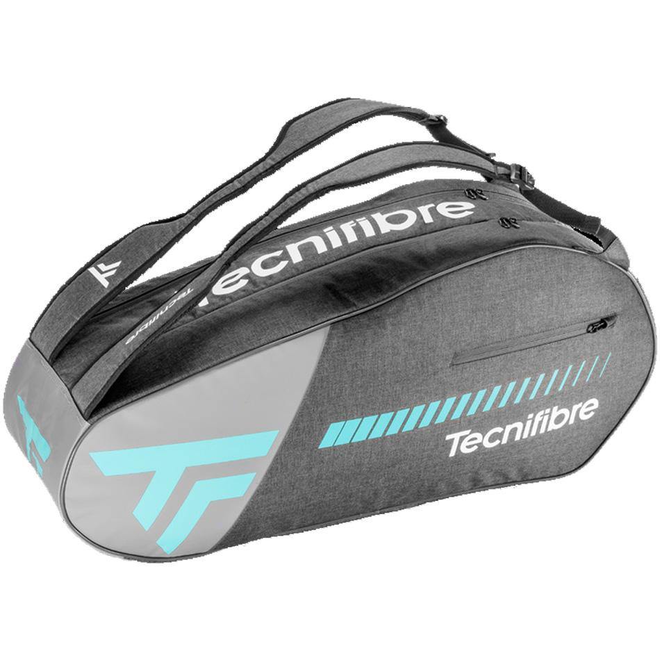 Tecnifibre Womens Tempo 6 Racket Bag - Grey/Blue - All Things Tennis