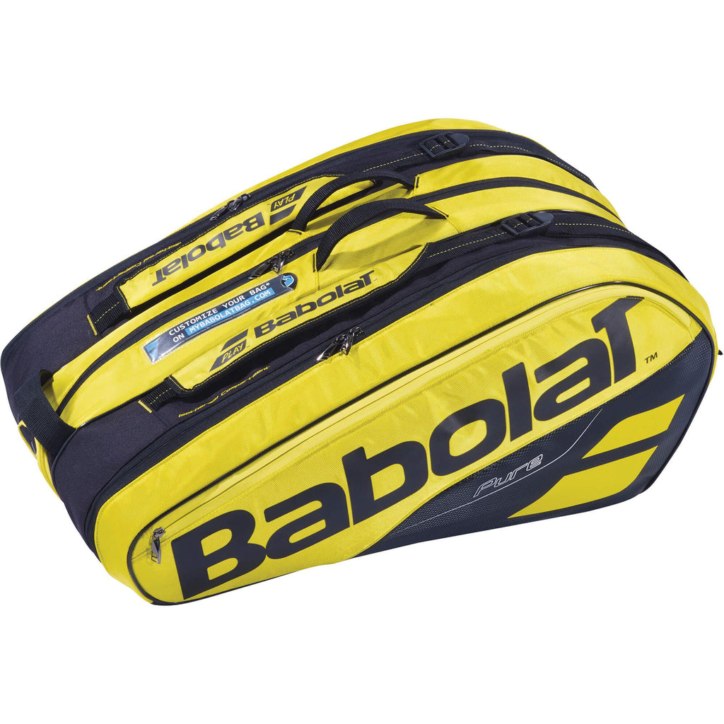 Babolat Pure Aero 12 Racket Bag - Yellow/Black-All Things Tennis-UK tennis shop