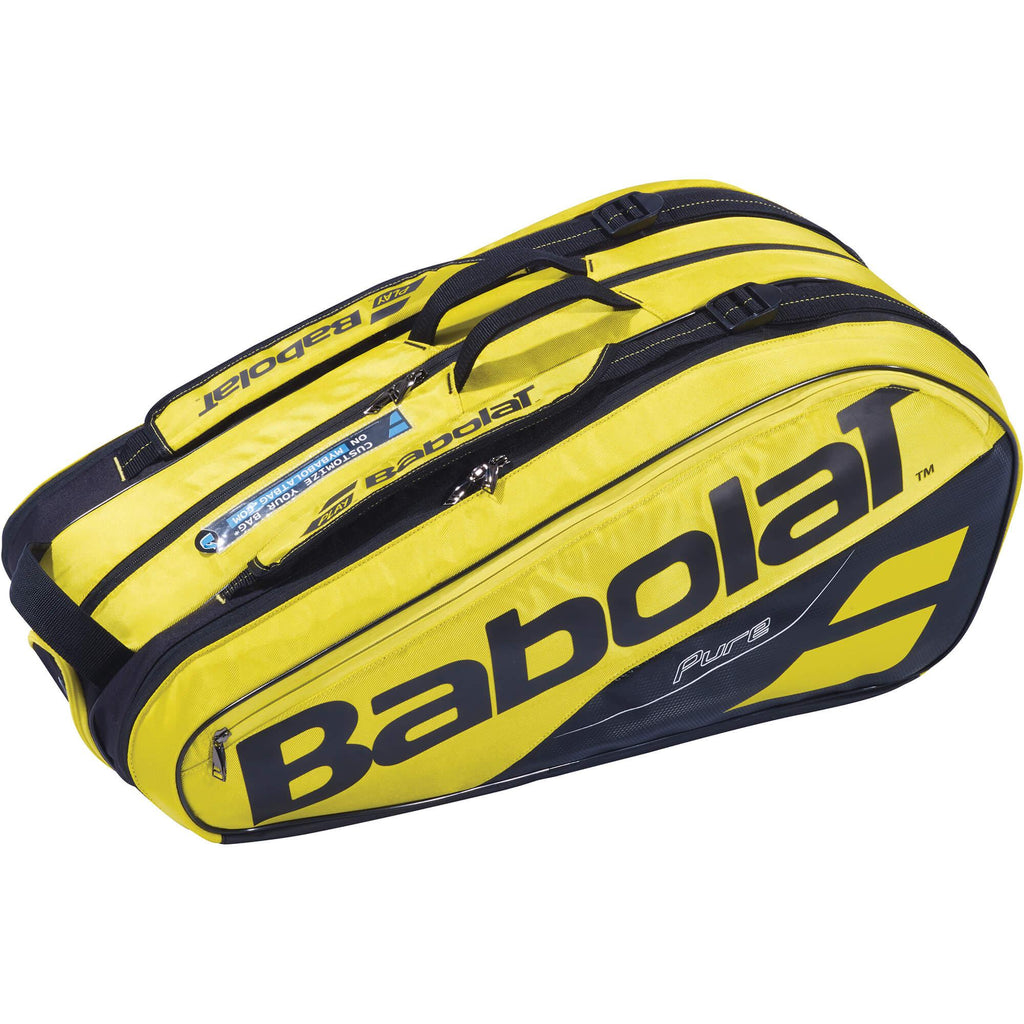 Babolat Pure Aero 9 Racket Bag - Yellow/Black - Independent tennis shop All Tbings Tennis