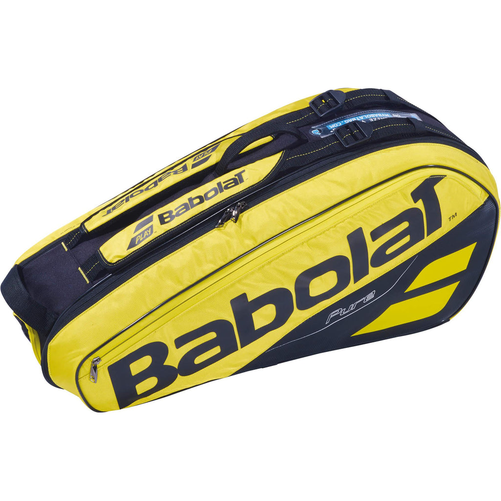 Babolat Pure Aero 6 Racket Bag - Yellow/Black - Independent tennis shop All Tbings Tennis