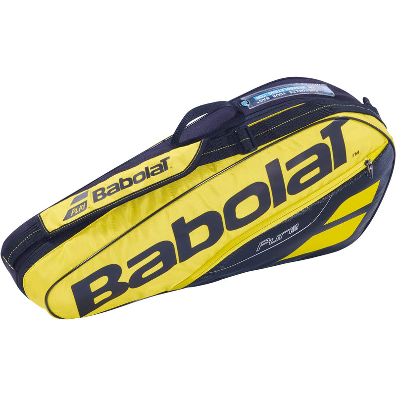 Babolat Pure Aero 3 Racket Bag - Yellow/Black - All Things Tennis