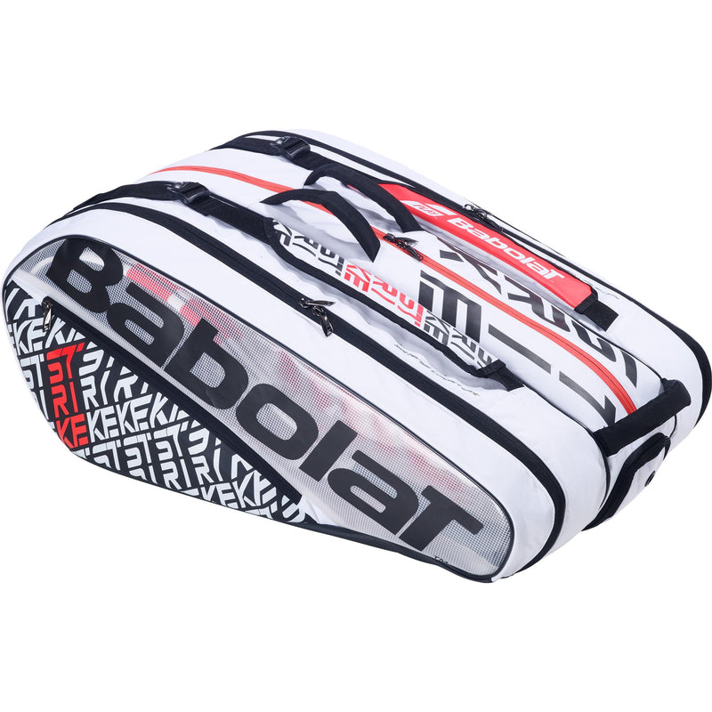 Babolat Pure Strike 12 Racket Bag - White/Red - All Things Tennis