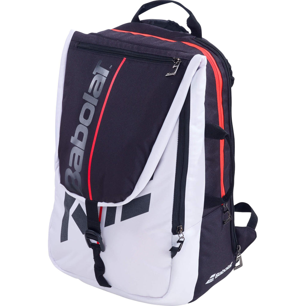 Babolat Pure Strike Backpack - White/Red-All Things Tennis-UK tennis shop
