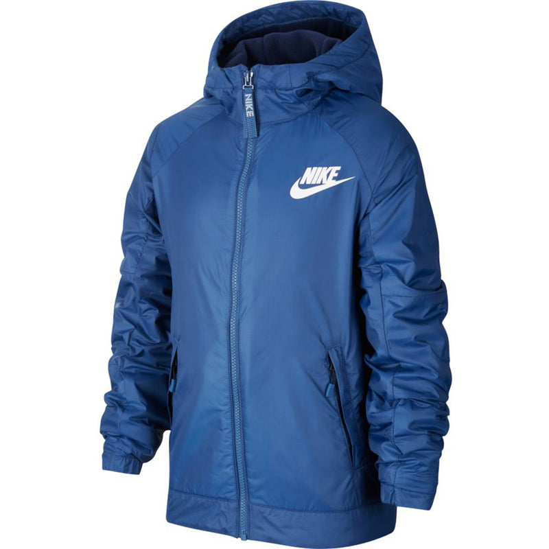 JUNIOR NIKE FLEECE JACKET WITH HOOD-All Things Tennis-UK tennis shop