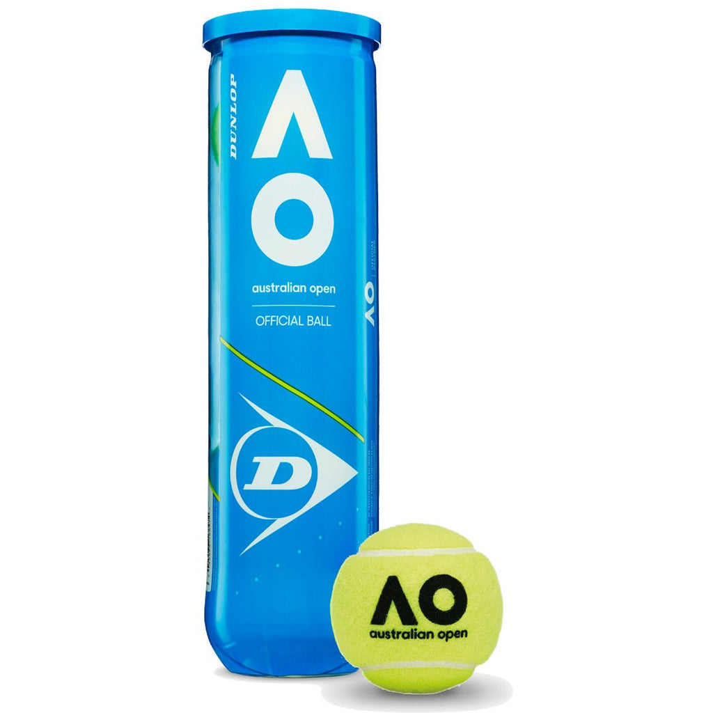 Dunlop Australian Open Tennis Balls (4 Ball Can)-All Things Tennis-UK tennis shop