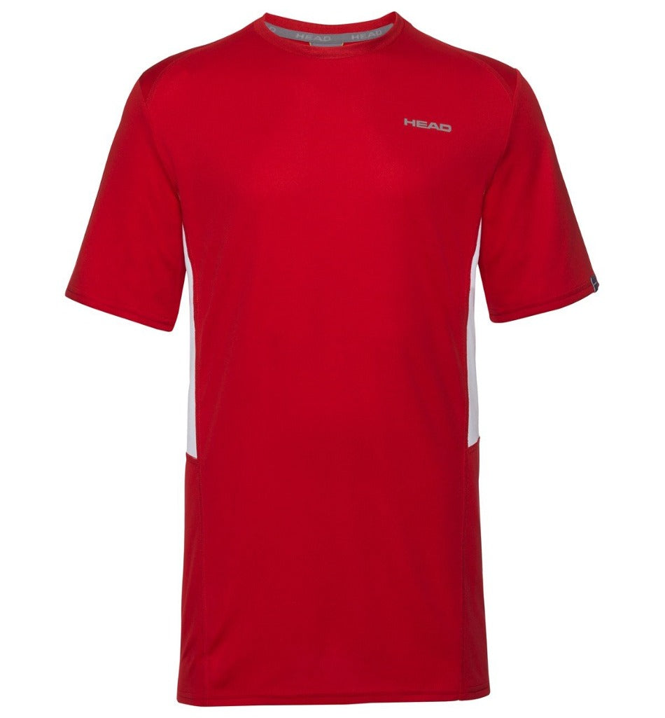 Head Mens Club Tech T-Shirt -Red-All Things Tennis-UK tennis shop