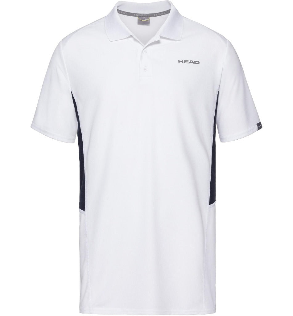 Head Mens Club Tech Polo - White/Dark Blue - All Things Tennis