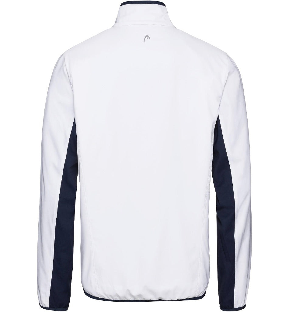 Head Mens Club Jacket - White/Dark Blue-All Things Tennis-UK tennis shop