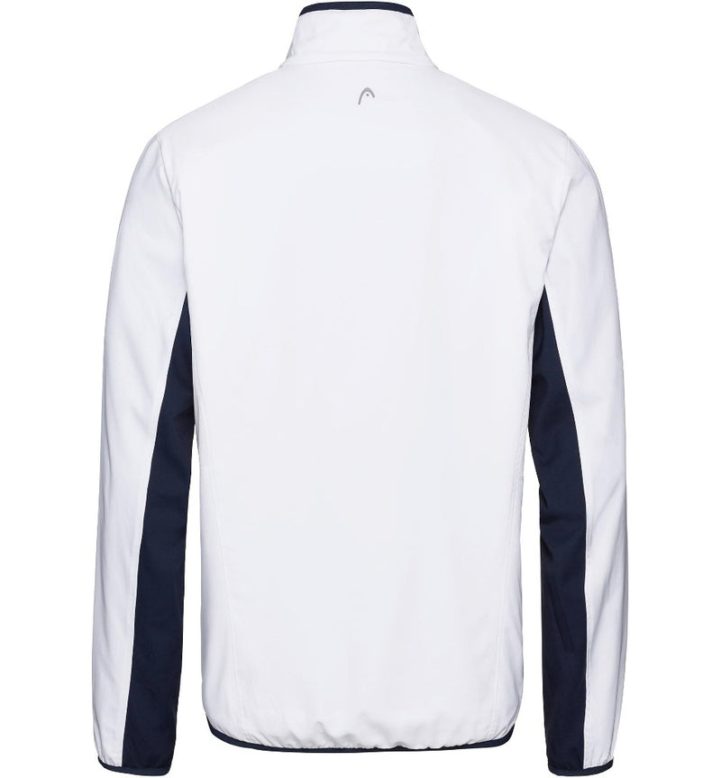 Head Mens Club Jacket - White/Dark Blue - All Things Tennis