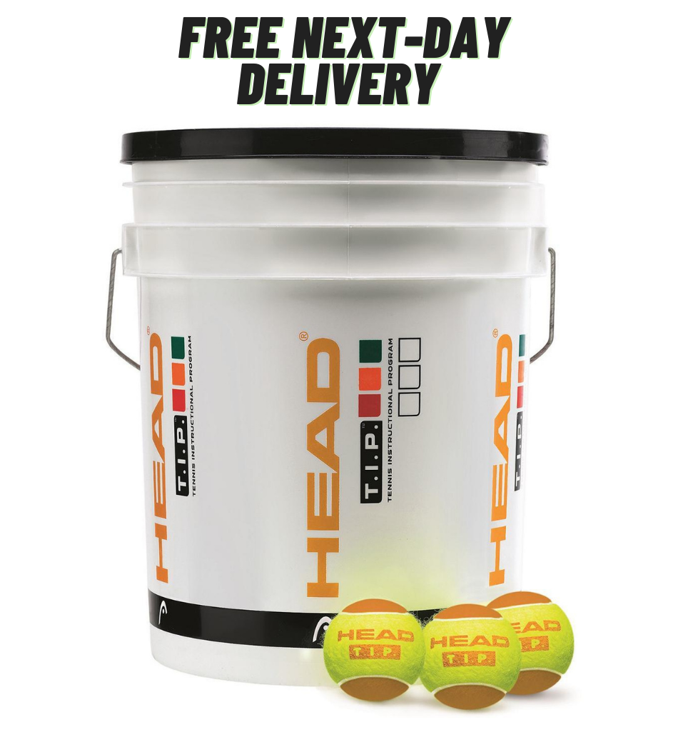 Head TIP Orange Trainer Tennis Balls - 6 Dozen Bucket - Free next day delivery at All Things Tennis
