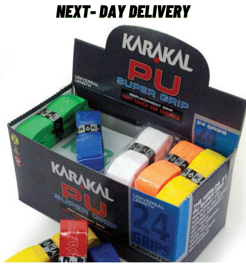Karakal PU Super Grips (Pack of 24) - Assorted Colours-All Things Tennis-UK tennis shop