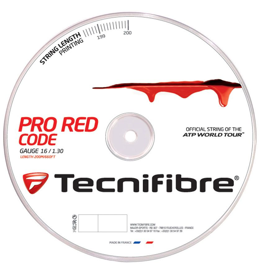 Tecnifibre Pro Redcode 200m Reel-Various Gauges-All Things Tennis-UK tennis shop