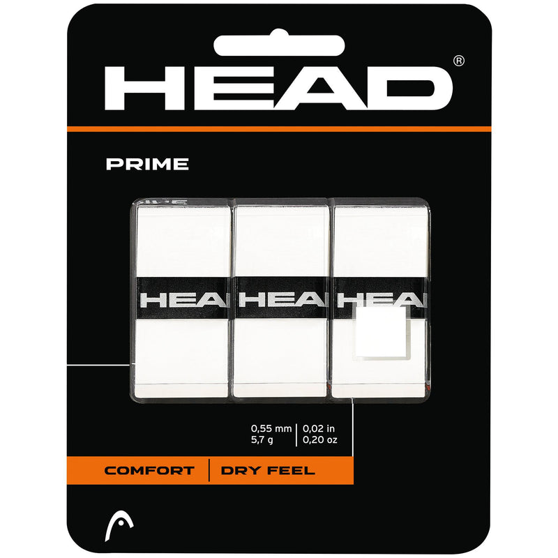 Head Prime Overgrips (Pack of 3) - White - Independent tennis shop All Tbings Tennis