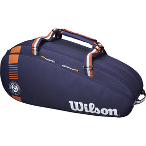 Wilson Roland Garros Team 6 Racket Bag - Navy/Clay - All Things Tennis