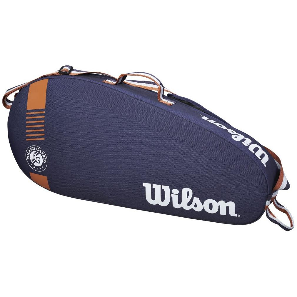 Wilson Roland Garros Team 3 Racket Bag - Navy/Clay-All Things Tennis-UK tennis shop