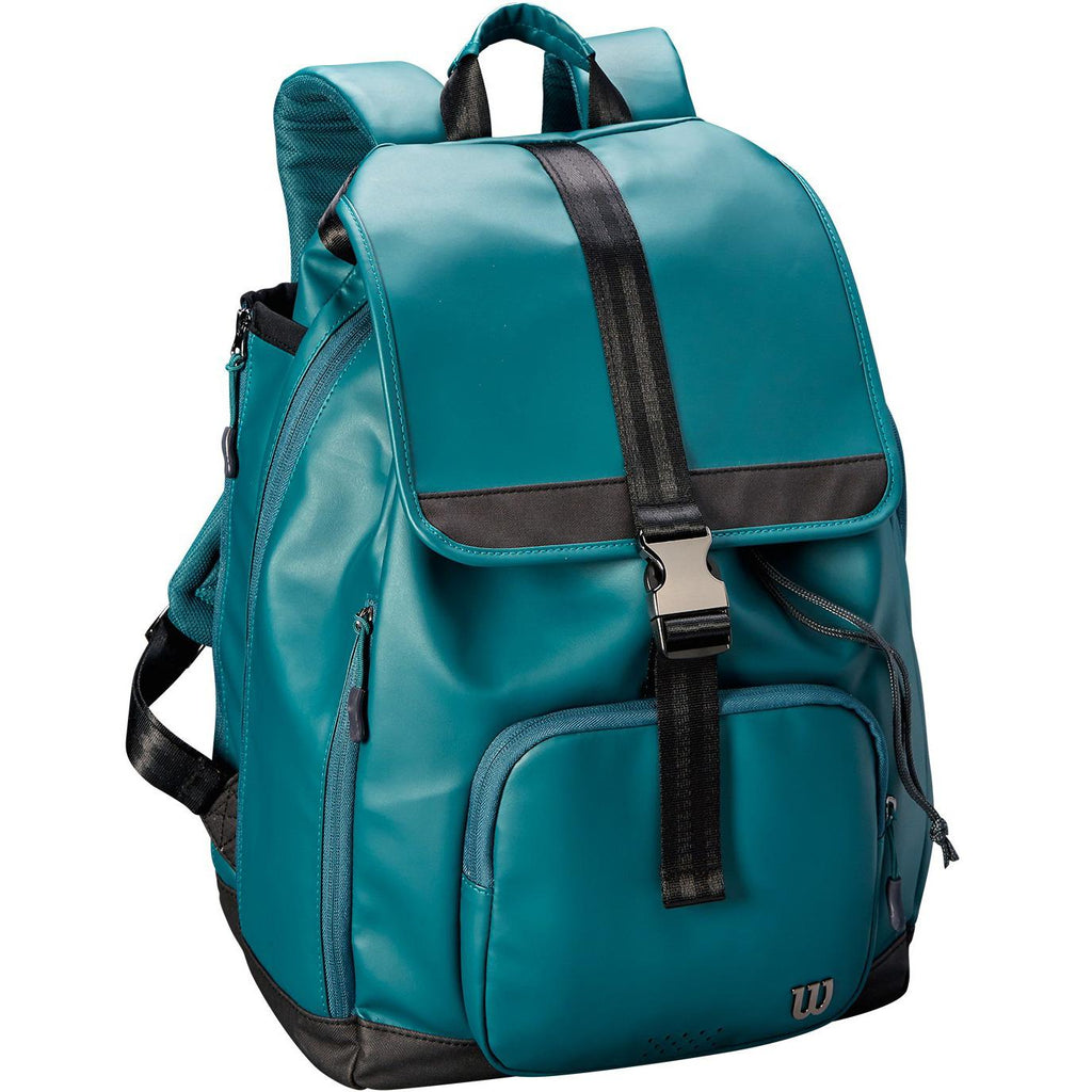 Wilson Womens Fold Over Backpack - Green-All Things Tennis-UK tennis shop