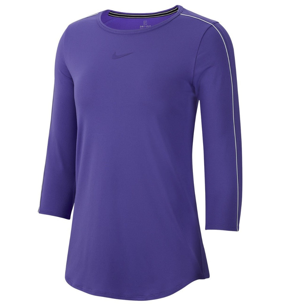 WOMEN'S NIKE COURT 3/4 SLEEVE T-SHIRT - Independent tennis shop All Tbings Tennis