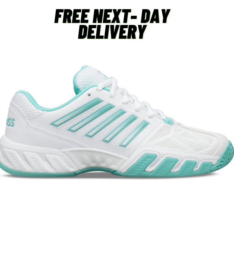 K-Swiss Big Shot Light 3.0 (White/Aruba Blue)-All Things Tennis-UK tennis shop