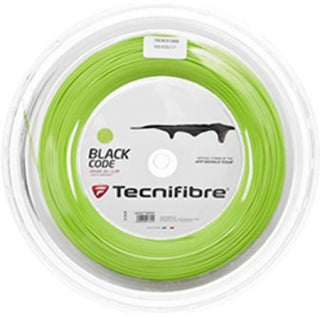Tecnifibre Pro Black Code 200m Reel- Lime-All Things Tennis-UK tennis shop