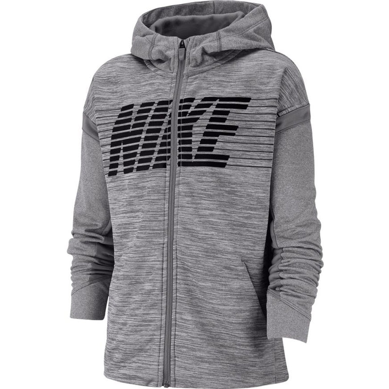 JUNIOR NIKE THERMA ZIPPED HOODIE-All Things Tennis-UK tennis shop