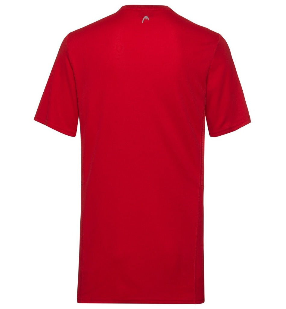 Head Mens Club Tech T-Shirt -Red - All Things Tennis