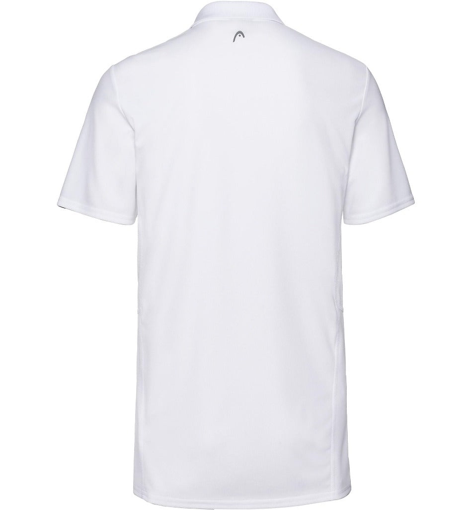 Head Mens Club Tech Polo - White - All Things Tennis