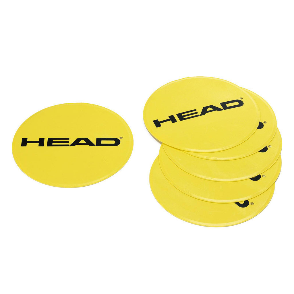 Head Round Spot Targets (Pack of 6) - Yellow - ATT Affiliates only - All Things Tennis