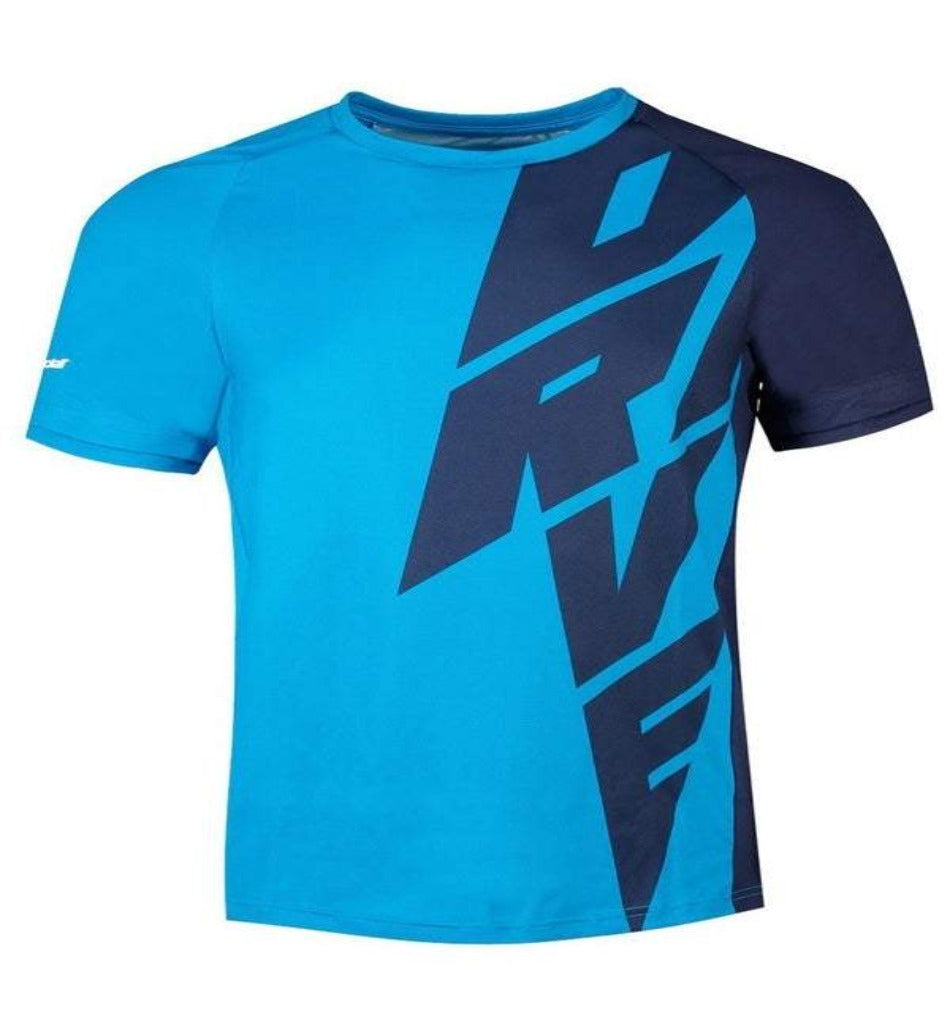 Babolat Men's drive crew t-shirt - all things tennis UK tennis retailer