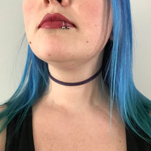 Purple Choker Necklace | Suede Choker | Double Wrap Choker | Wrap Choker | Reversible Choker | Vegan Choker | Vegan Suede | Vegan Leather