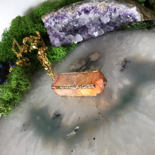 Geode Slice Necklace | Amber Necklace