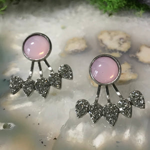 Pink Pearl Earrings | Earring Jacket