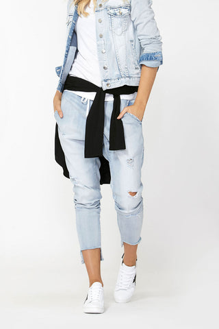 Luxe Ripped Drop Crotch Pant