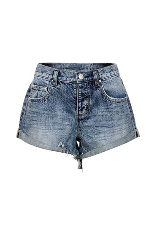 Luxe Denim Roll Cuff Short