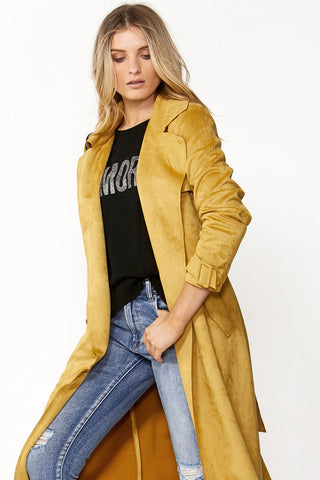 Blair Suedette Trench Coat
