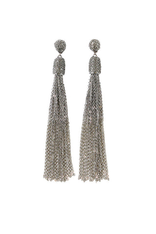 Martha Chain Tassel Earring