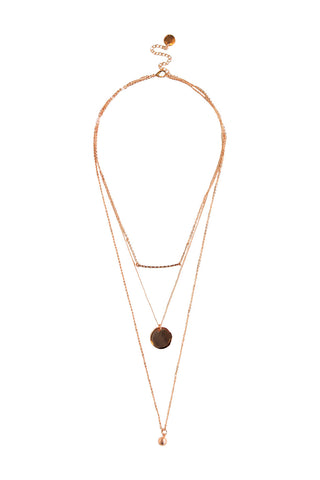 Disc Ball 3 Layered Necklace