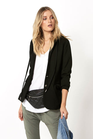 Luxe Hooded Blazer