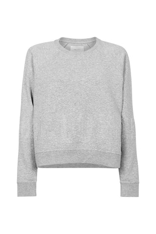 Luxe Embossed Crop Sweat