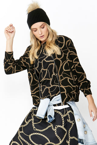 Lucia Printed Bomber