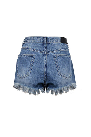 Luxe Raw Hem Denim Short